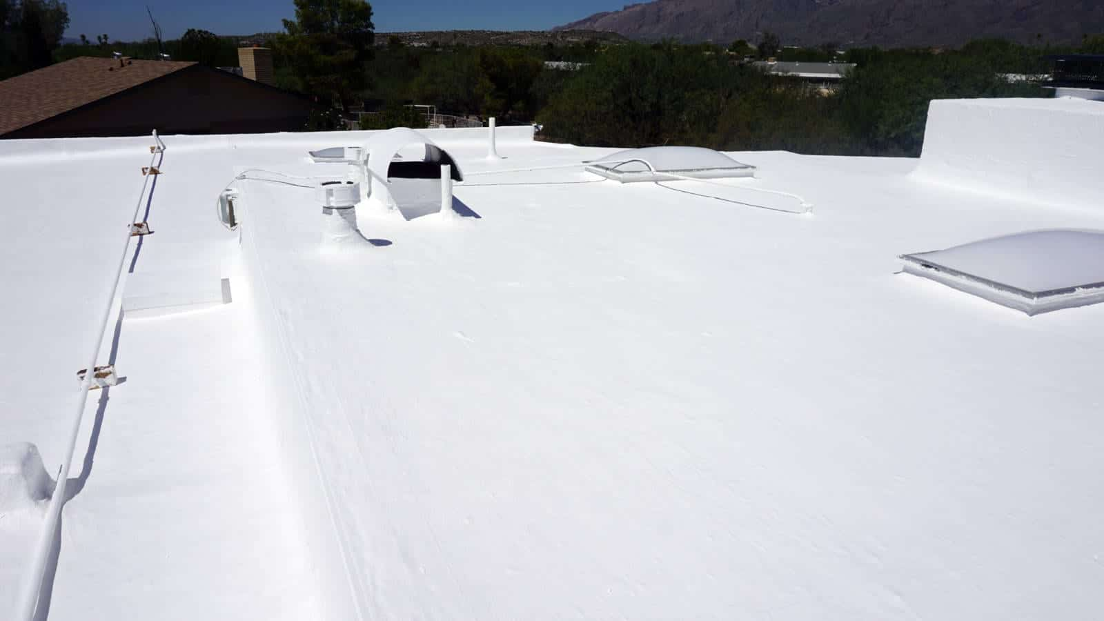 Finished Roof -- white roof coatings